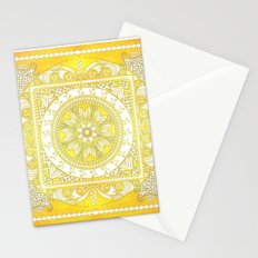 Golden Henna Mandala Stationery Cards
