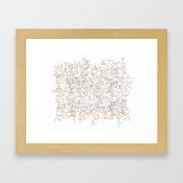 Yoga Manuscript Framed Art Print