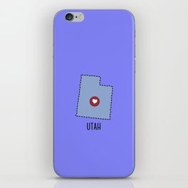 Utah State Heart iPhone Skin