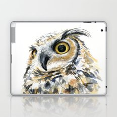 Owl Great Horned Bird of Prey Owls Animals Bird Wildlife Laptop & iPad Skin