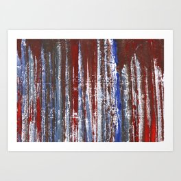 Red-blue abstraction Art Print