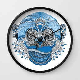 Tribal Monkey Wall Clock