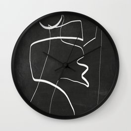 Abstract line art 6/2 Wall Clock