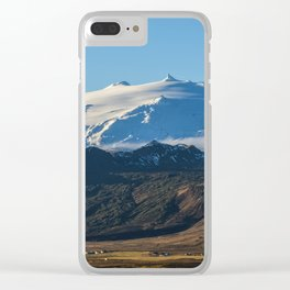 Snaefellsjokull volcano 2 Iceland Clear iPhone Case