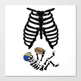Basketball Baby Shirt Mama Skeleton Child Canvas Print