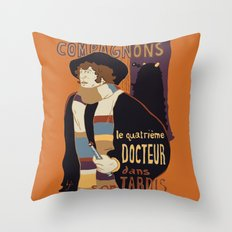 Le Fourth Doctor Throw Pillow