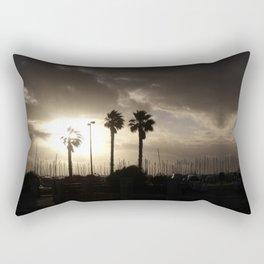 Palm trees & boats Rectangular Pillow
