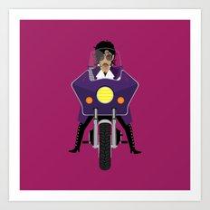 The Emoji-fication of His Purple Majesty: Motorcycle Art Print