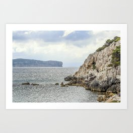 Seacoast near Alghero and Capo Caccia Art Print