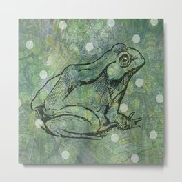 The Magical Frog Metal Print