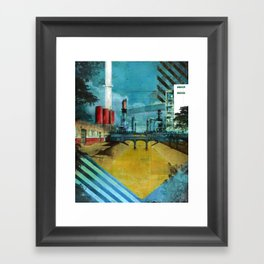 LA River Blues Framed Art Print