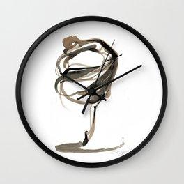 Ballet Dance Drawing Wall Clock