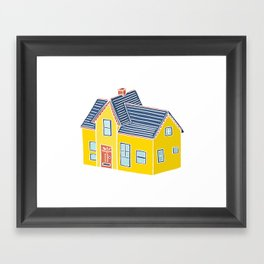Little Yellow House with a Big Porch Framed Art Print