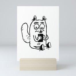 Instagram Squirrel Mini Art Print