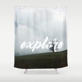 Explore // #TravelSeries Shower Curtain