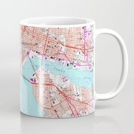 Vintage Map of Jacksonville Florida (1964) Coffee Mug