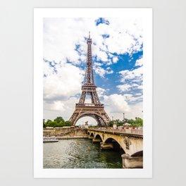 Eiffel tower, Paris , France Art Print