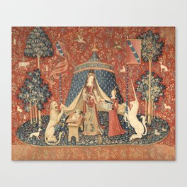 The Lady And The Unicorn Canvas Print