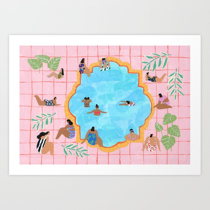 Marigold pool Art Print