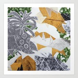 Tropical Toile Art Print
