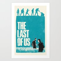 the last of us Art Prints featuring The Last Of Us by Bill Pyle