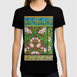 Jonquil Art Nouveau Flower Tiles T-shirt