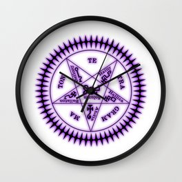 Sebastian Michaelis Sigil Dark (white bg) Wall Clock