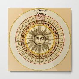 Celestial Chart 1522 Metal Print