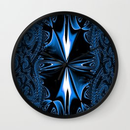 Blue FIS Cross Abstract 1 Wall Clock