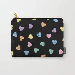 Kawaii Pastel Goth Candy Hearts Carry-All Pouch