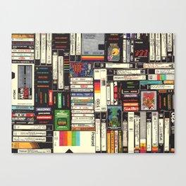 Cassettes, VHS & Games Leinwanddruck