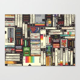 Cassettes, VHS & Games Canvas Print
