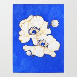 Ultramarine Blue :: Anemones Poster