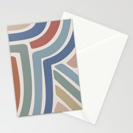 Abstract Stripes II Stationery Cards