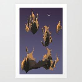 Floating cliff Art Print