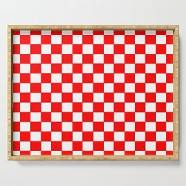Checkers - Red and White Serving Tray