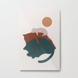 Cat Landscape 17 Metal Print