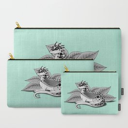 Poisonous Dragon-Teal Palette Carry-All Pouch