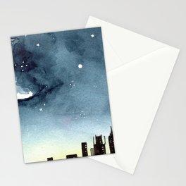 sketchy skyline Stationery Cards