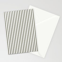 Garden Boot Grey Pinstripe on White Stationery Cards