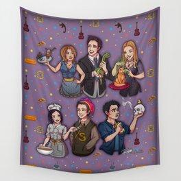 Friends TV Show - Monica Chandler Rachel Ross Phoebe Joey Wall Tapestry