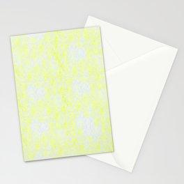 Damask Yellow Stationery Cards