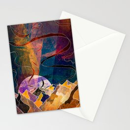 Ribbon sky mountains Stationery Cards