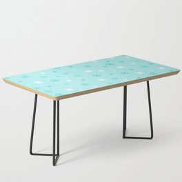 AFE Turquoise Snowflakes Coffee Table