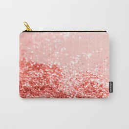 Sparkling Living Coral Lady Glitter #2 #shiny #decor #art #society6 Carry-All Pouch