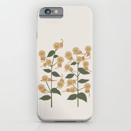 Cat and Plant 7B iPhone Case