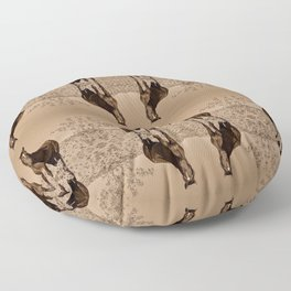 Wild_Horses Sepia 3501 - Nevada Floor Pillow
