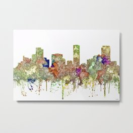 Denver, Colorado Skyline SG - Faded Glory Metal Print