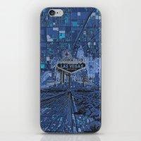 las vegas iPhone & iPod Skins featuring las vegas by Bekim ART