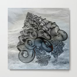 shell pattern -1- Metal Print